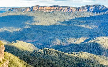 Mountains and rolling tree-covered hills New South Wales