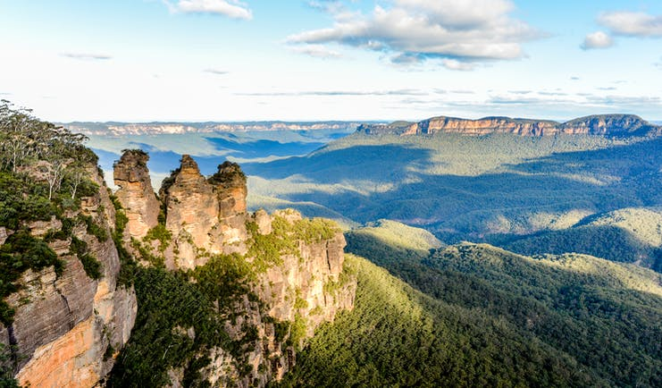 Three Sisters rock formation, Blue Mountains in New South Wales