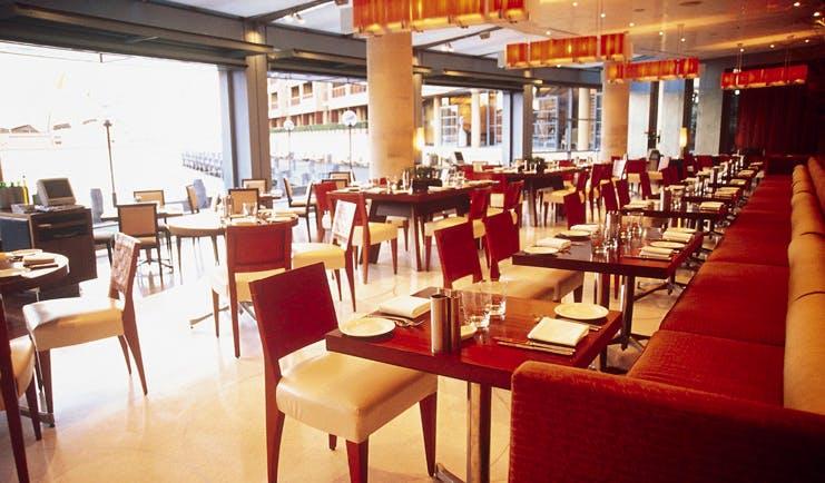 Park Hyatt Sydney restaurant with large floor to ceiling windows