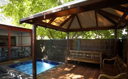 Port Douglas Peninsula Queensland villa pool covered decked seating area with private plunge pool