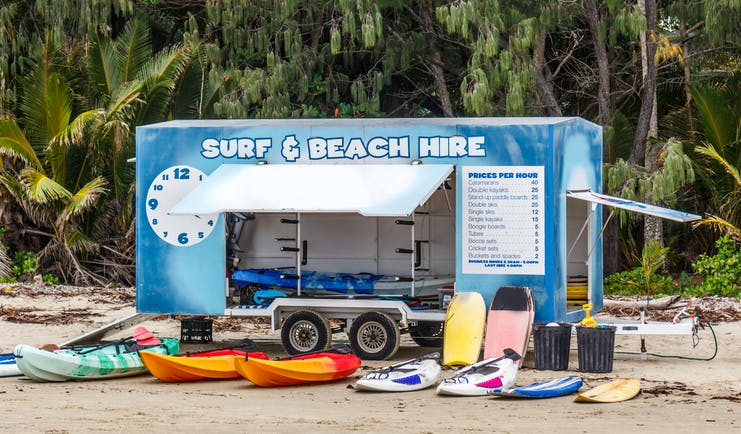 Surf and beach equipment for hire in Port Douglas, Queensland