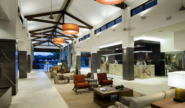 Sea Temple Queensland lobby area with seating areas