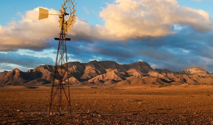 Flinders Ranges South Australia, rural landscape, mountain range in background
