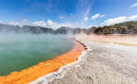 Waiotapu thermal spring on New Zealand's North Island, colourful champagne pool
