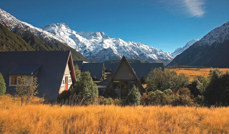 The Hermitage Hotel Central South Island chalets surrounded by mountains
