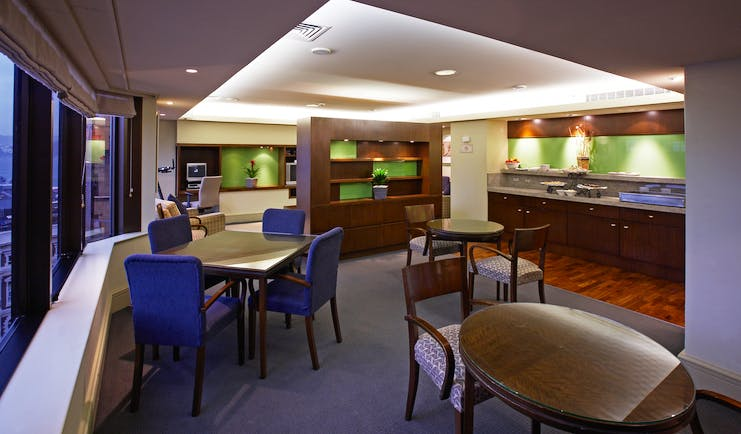 The Intercontinental Wellington club lounge seating area  withcity view