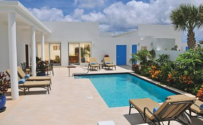 Cuisinart Anguilla villa pool sun loungers
