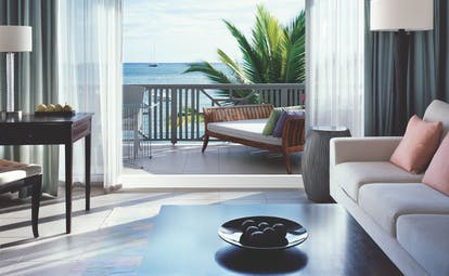 Carlisle Bay Antigua carlisle suite terrace with ocean views