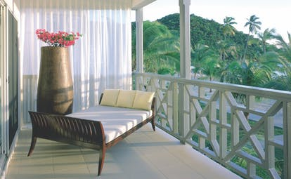 Carlisle Bay Antigua ocean suite balcony lounger
