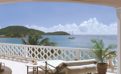 Curtain Bluff Antigua balcony overlooking the ocean