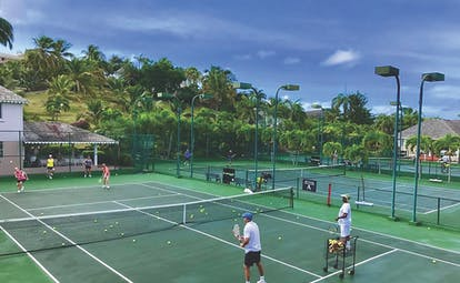 Curtain Bluff Antigua tennis courts