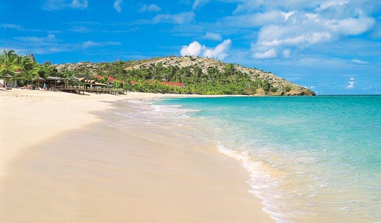 Galley Bay Antigua beach white sand clear blue ocean natural landscape