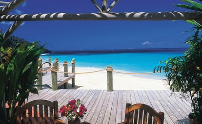 Galley Bay Antigua terrace on beachfront overlooking ocean