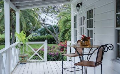 Inn at English Harbour Antigua terrace sitting area garden views
