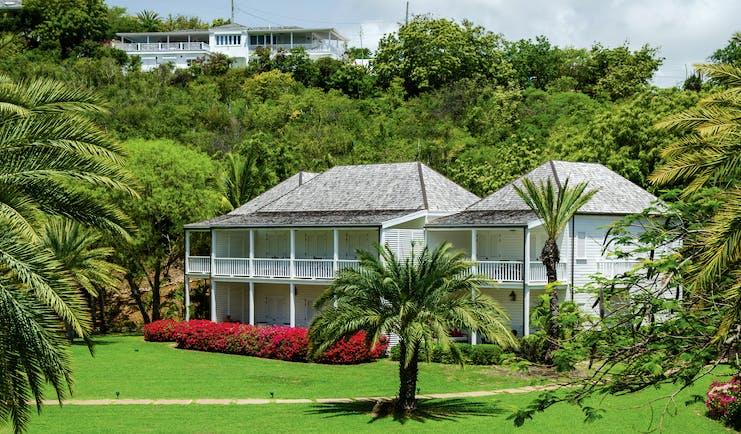Inn at English Harbour Antigua exterior view palm trees lawn