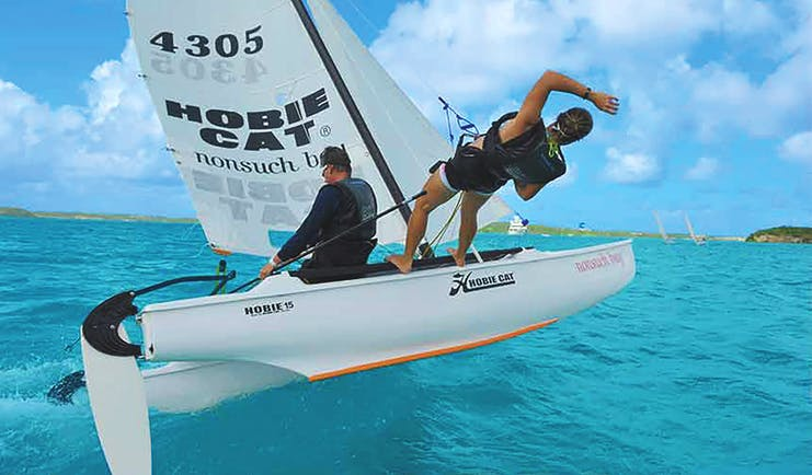 Nonsuch Bay Antigua hobiecat sailing