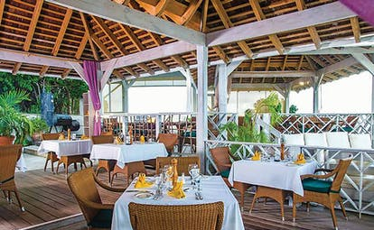 Nonsuch Bay Antigua restaurant covered terrace outdoor dining