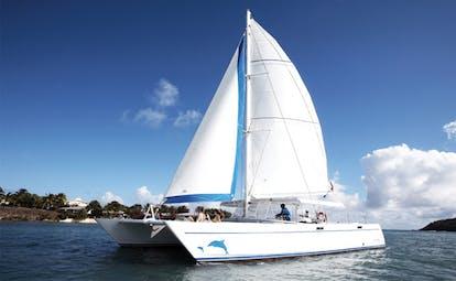 St James's Club Antigua catamaran on water