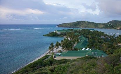 St James's Club Antigua aerial shot of resort