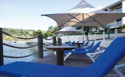 St James's Club Antigua royal suite bed sofa elegant décor
