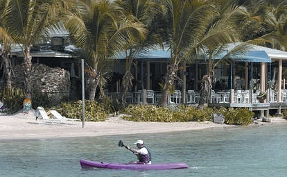 St James's Club Antigua water sports kayak on the water