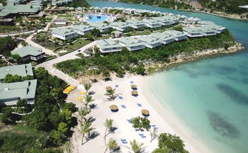 Verandah Resort and Spa Antigua aerial view of resort and beach