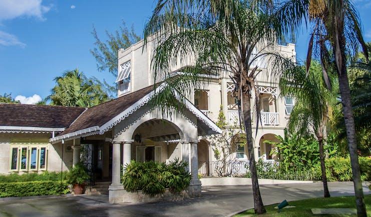 Coral Reef Club Barbados exterior of main building entrance and driveway