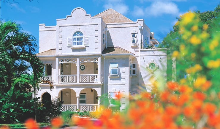 Coral Reef Club Barbados main building exterior plants and shrubbery