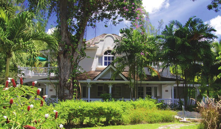 Coral Reef Club Barbados outside lawns trees and shrubbery