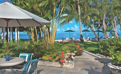 Coral Reef Club Barbados restaurant outdoor dining and ocean views