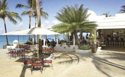 Fairmont Royal Pavilion Barbados taboras bistro indoor and outdoor dining areas ocean views