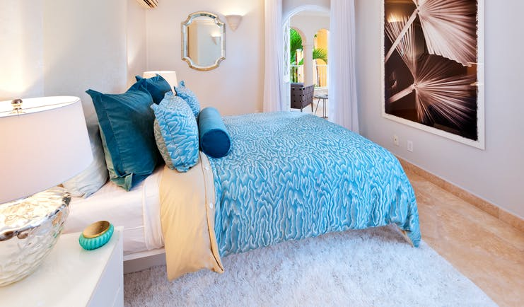 St Peters Bay room, double bed, bright modern decor
