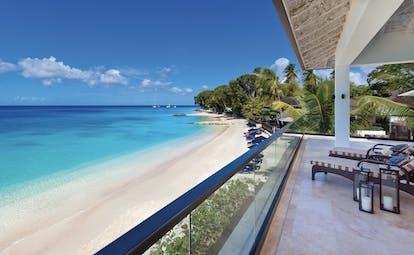Sandpiper Barbados balcony overlooking beach