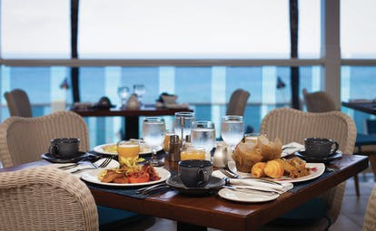 Waves Barbados breakfast cooked and continental breakfast coffee and orange juice
