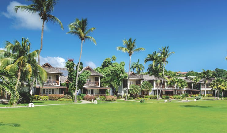 Calabash Grenada hotel exterior palm trees green lawns