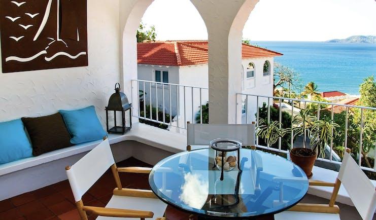 Mount Cinnamon Grenada balcony view overlooking resort and views of the ocean
