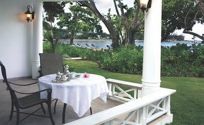 Half Moon Jamaica suite terrace private seating area garden and pool views