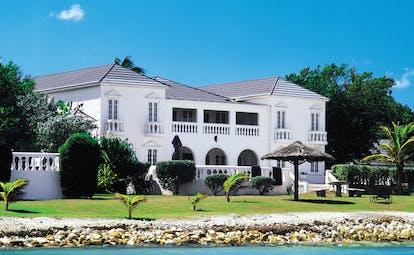 Half Moon Jamaica villa exterior sea shore gardens villa building