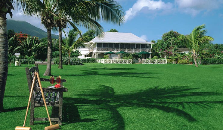 Nisbet Plantation Nevis croquet lawn hotel exterior