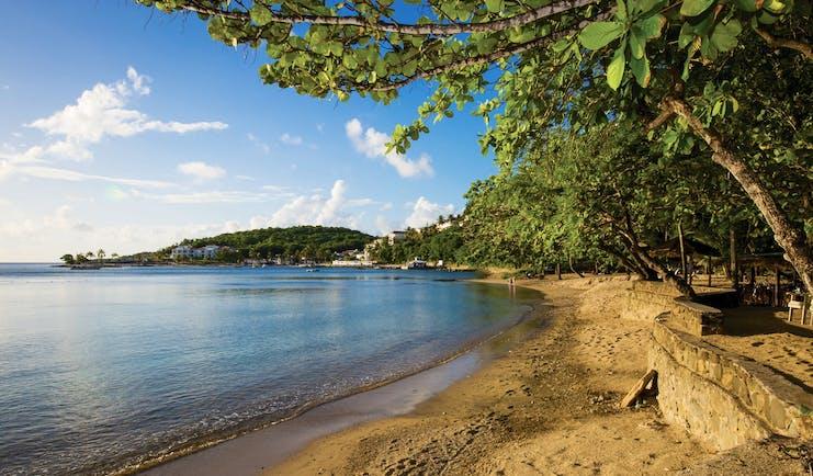 East Winds Inn St Lucia beach sandy beach ocean