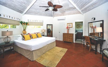 East Winds Inn St Lucia superior cottage bedroom bed built in wardrobes