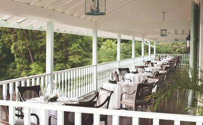 Sugarbeach St Lucia restaurant terrace dining area