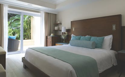 The Body Holiday St Lucia garden view room bedroom opening to balcony