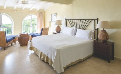 Windjammer Landing St Lucia ocean view guest room chairs