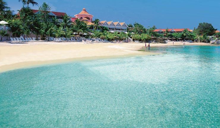 Coco Reef Tobago resort exterior beach resort in background