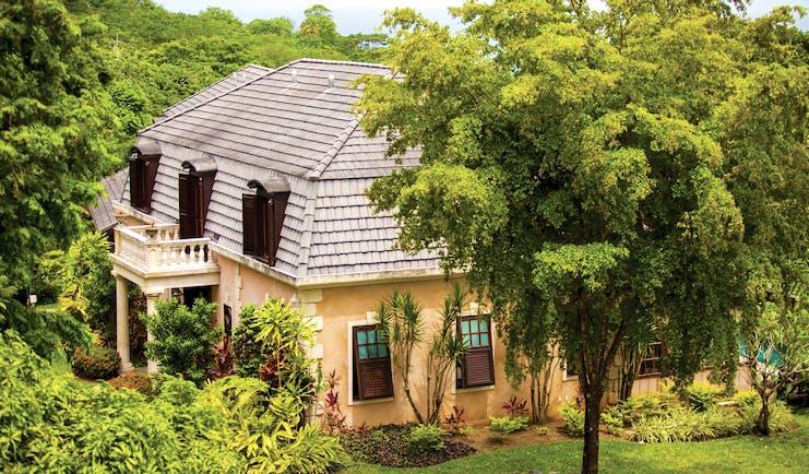 The Villas at Stonehaven Tobago main building exterior palm trees