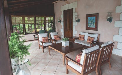 The Villas at Stonehaven Tobago villa veranda seating area