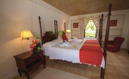 The Villas at Stonehaven Tobago villa bedroom upstairs master bedroom