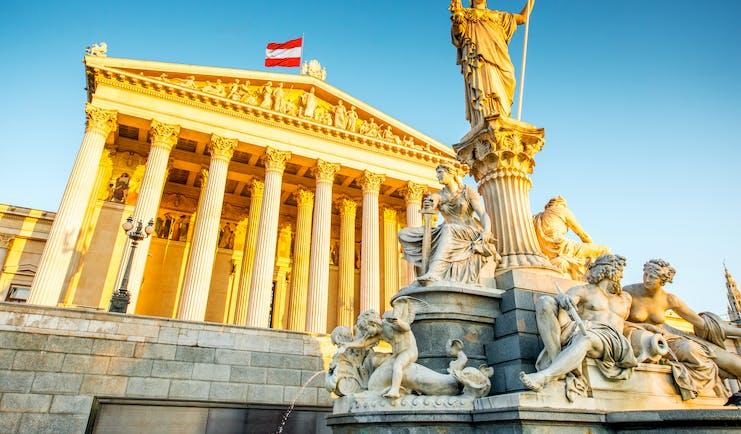 Austria parliament building Vienna
