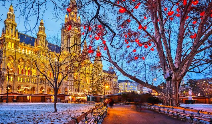 Austria Vienna Rathaus winter
